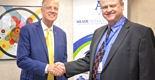 U.S. Senator Jerry Moran visits Meade District Hospital, touts new veterans' healthcare law
