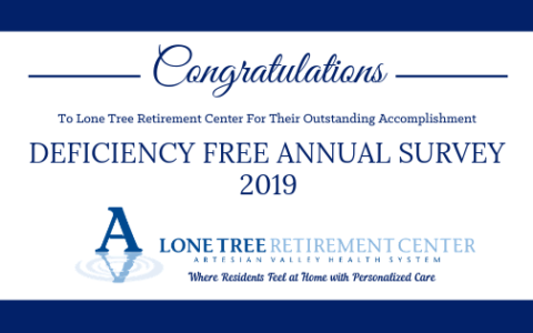Lone Tree Retirement Center Receives Highest Possible Annual Survey Score